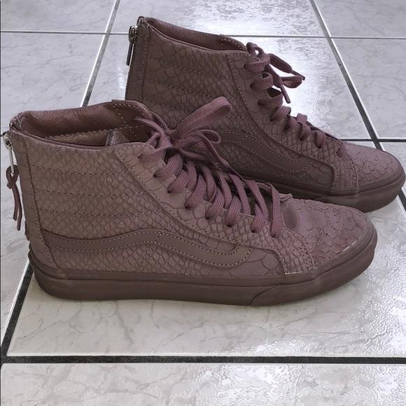 86806f44e17f36 Vans Shoes - Vans SK8 Hi Slim Zip High Top Shoes 8 Mono Python